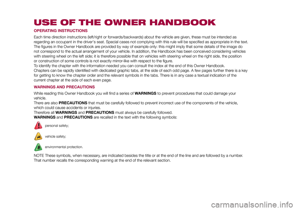 FIAT 500L LIVING 2015 2.G Owners Manual, Page 5