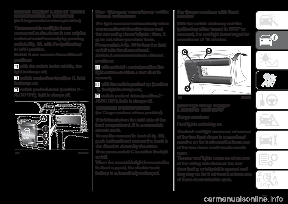 fiat doblo combi 2017 2 g owners manual rh carmanualsonline info fiat doblo owners manual pdf Fiat Doblo 4x4