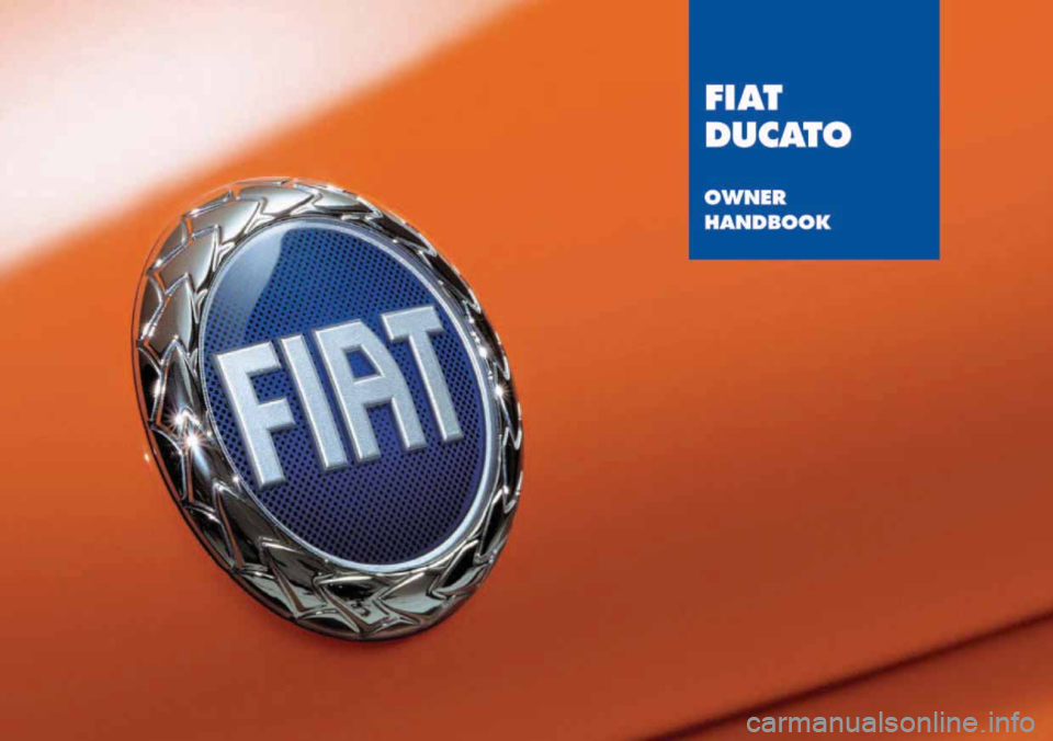 FIAT DUCATO 244 2005 3.G Owners Manual, Page 1