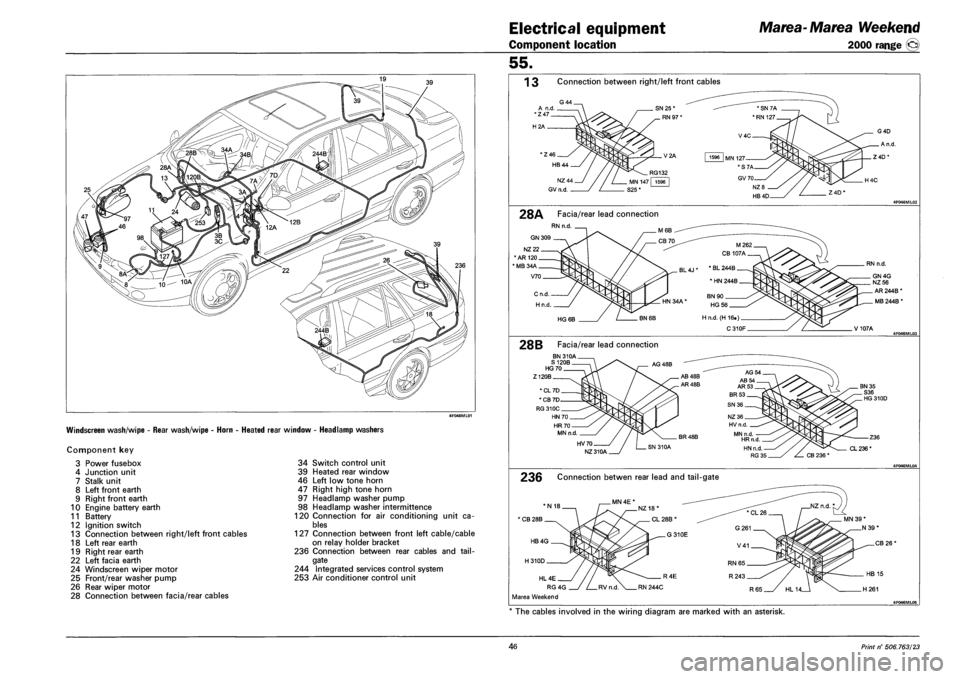 fiat marea 2001 1 g workshop manual, page 232