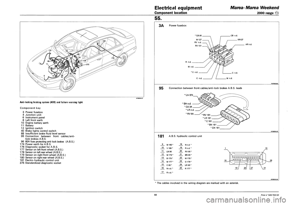 Battery Fiat Marea 2001 1 G Workshop Manual