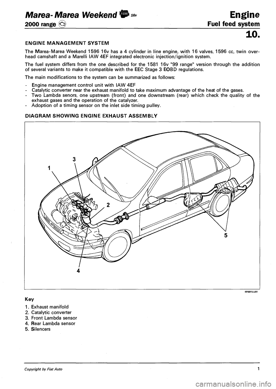 Fiat Marea 2001 1 G Repair Manual  330 Pages