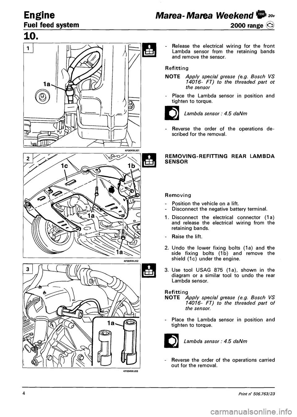 Fiat Marea 2001 1g Workshop Manual Vacuum Diagram