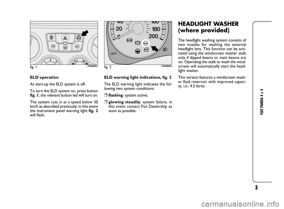 FIAT PANDA 2007 169 / 2.G 4x4 Supplement Manual, Page 4