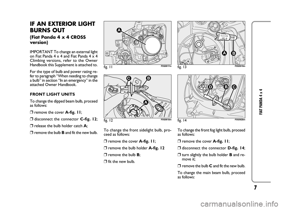 FIAT PANDA 2007 169 / 2.G 4x4 Supplement Manual, Page 8