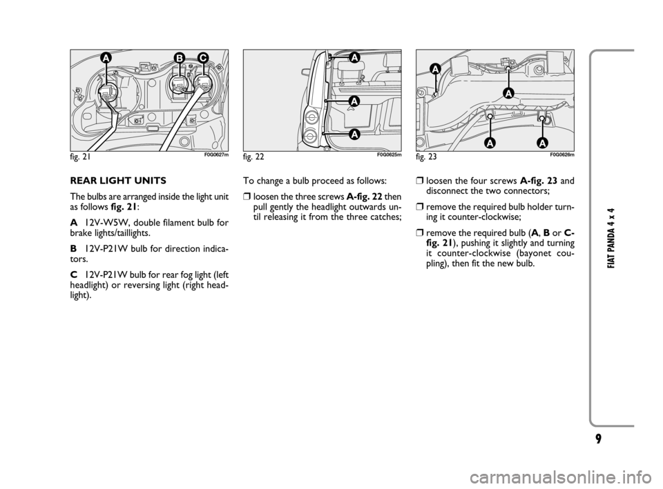 FIAT PANDA 2007 169 / 2.G 4x4 Supplement Manual, Page 10
