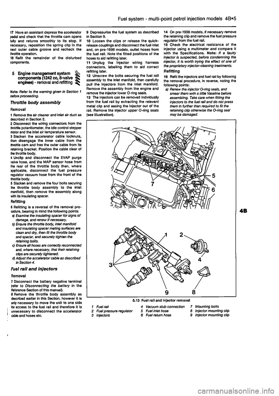 Warning Fiat Punto 1998 176 1g Workshop Manual Fuel Pump Diagram Page 131 4a2 System