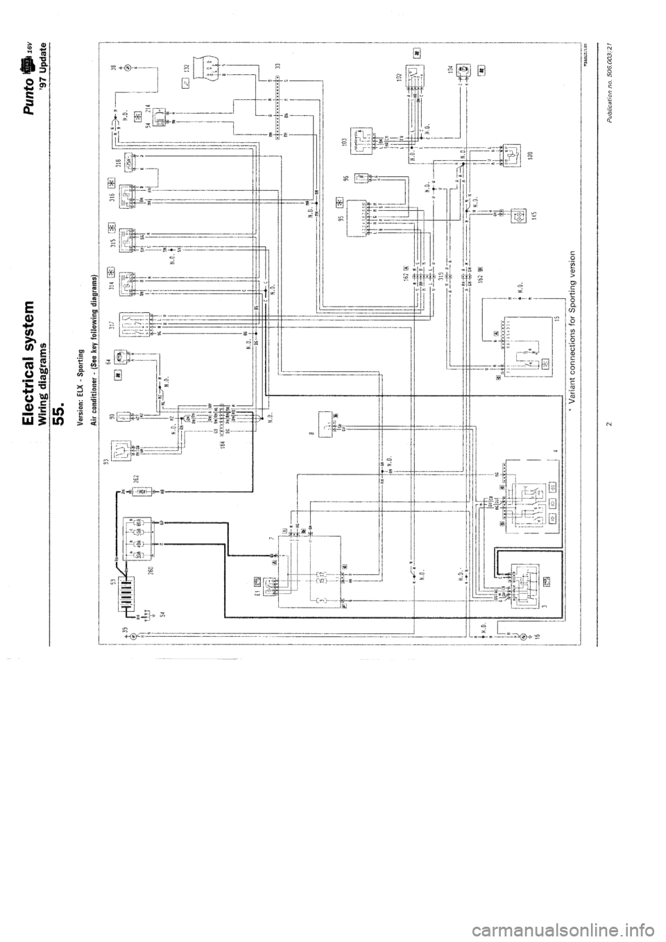 fiat punto audio wiring diagram fiat punto 1997 176 / 1.g wiring diagrams workshop manual