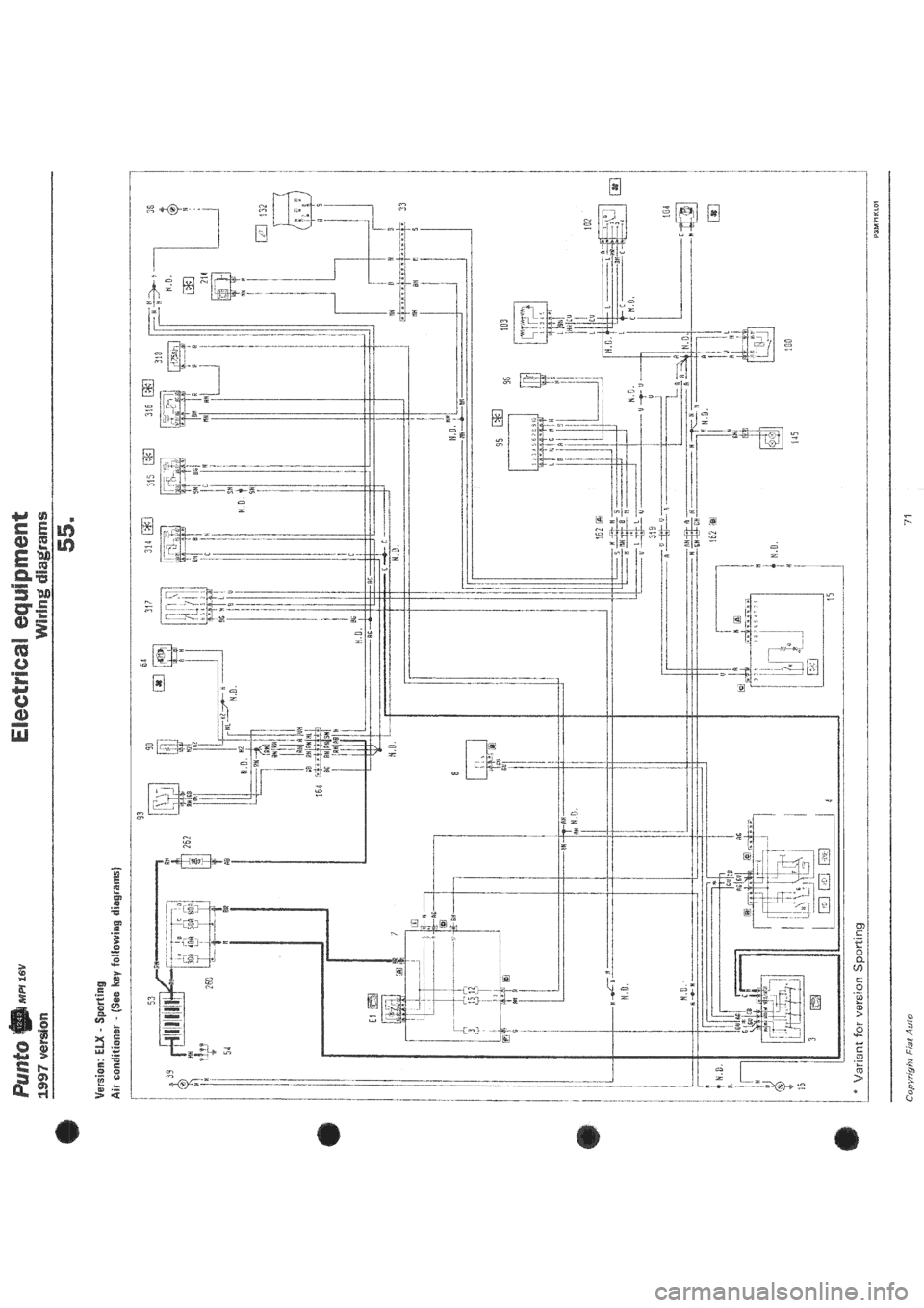 FIAT PUNTO 1997 176 1G Wiring Diagrams Workshop Manual