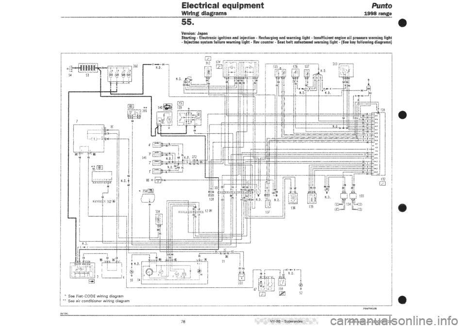 fiat punto 1998 176    1 g wiring diagrams workshop manual