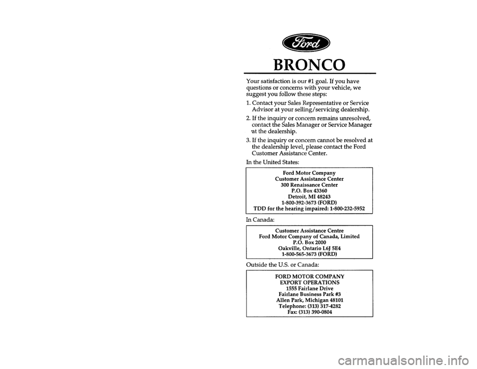 FORD BRONCO 1996 5.G Owners Manual [PI00300(B )04/95] thirty-six pica chart:0021233-CFile:ltpib.ex Update:Fri Jun  9 15:32:42 1995