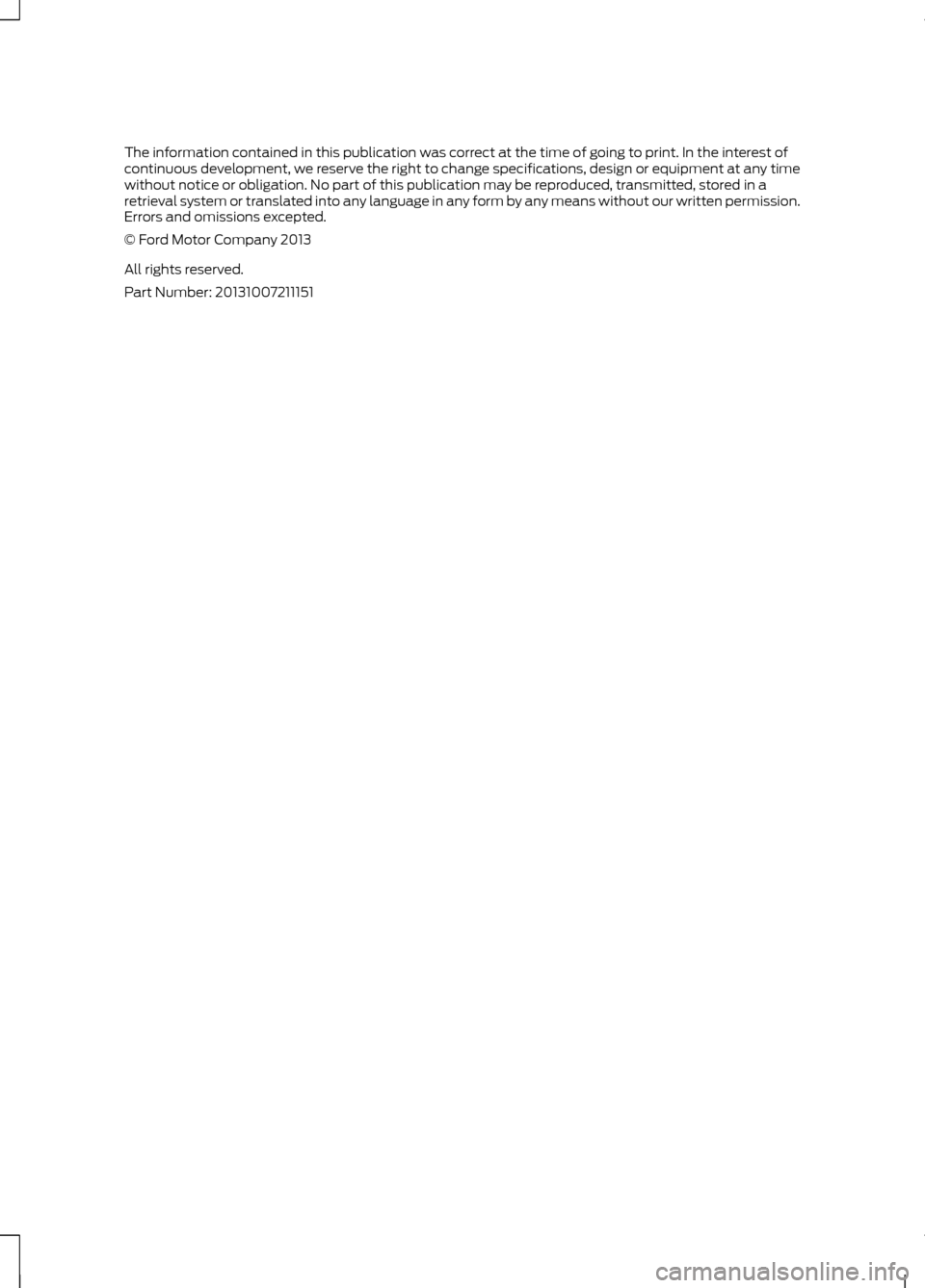 FORD C MAX HYBRID 2014 2.G Owners Manual, Page 2