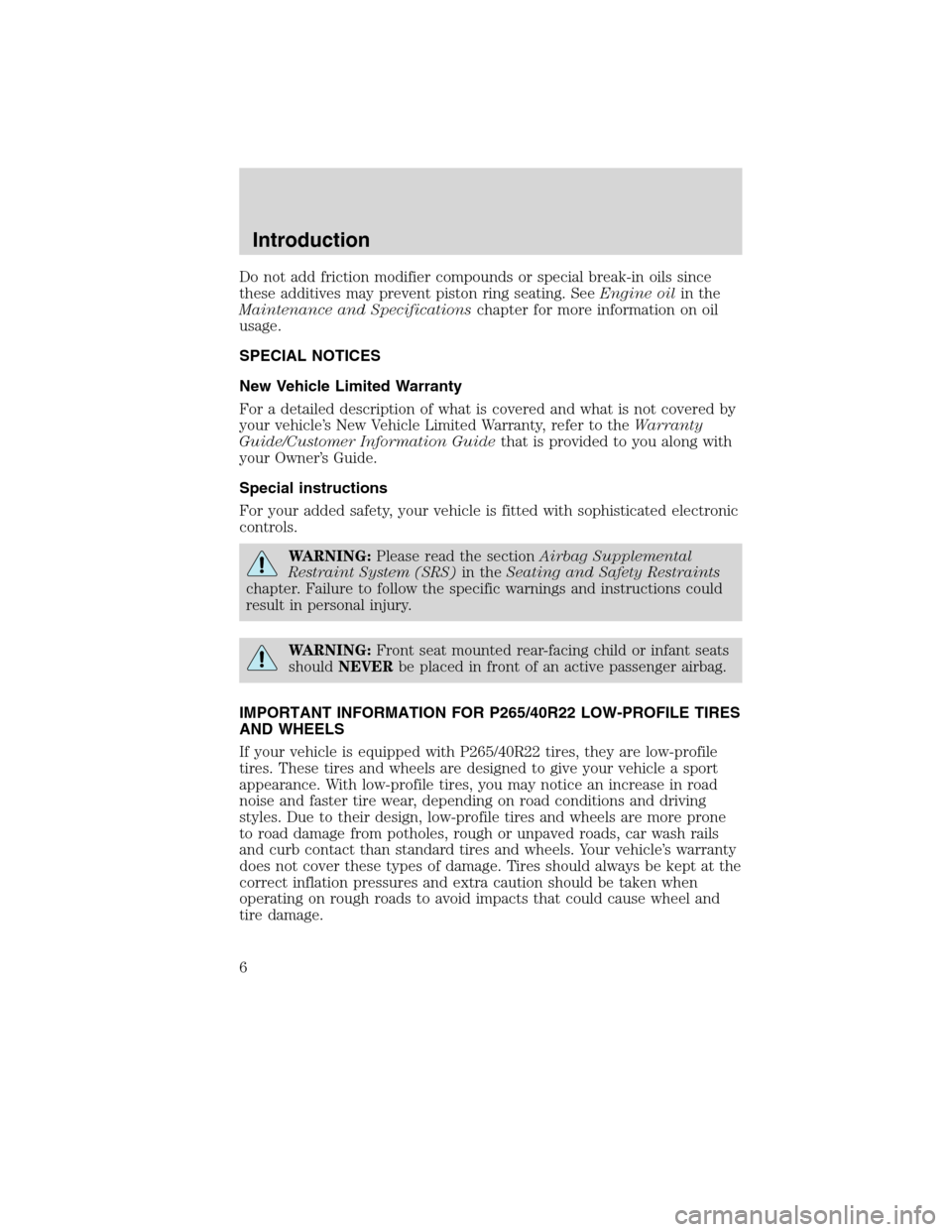 FORD EDGE 2010 1.G Owners Manual, Page 6