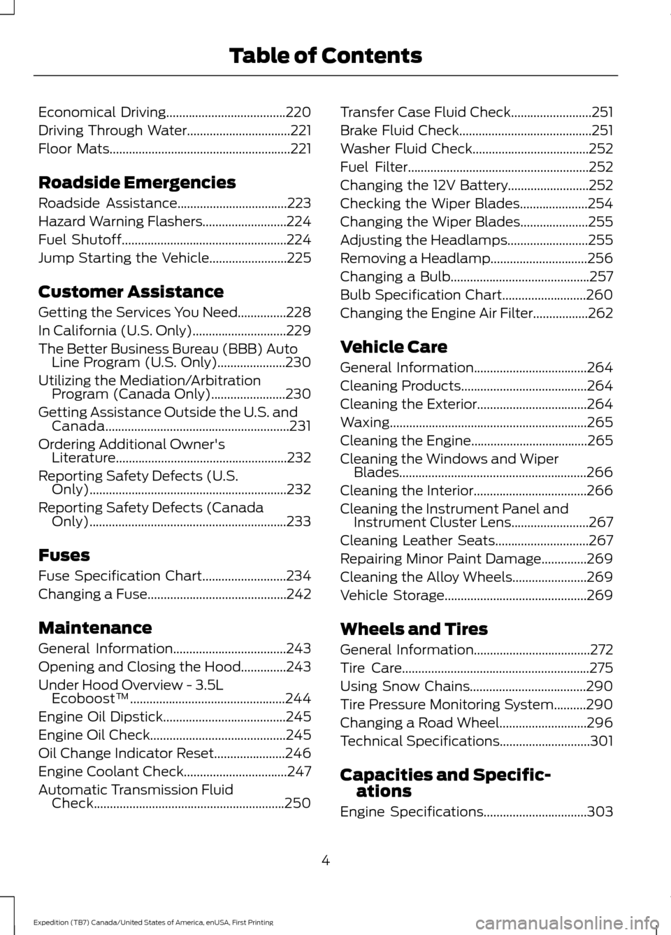 FORD EXPEDITION 2016 3.G Owners Manual, Page 7