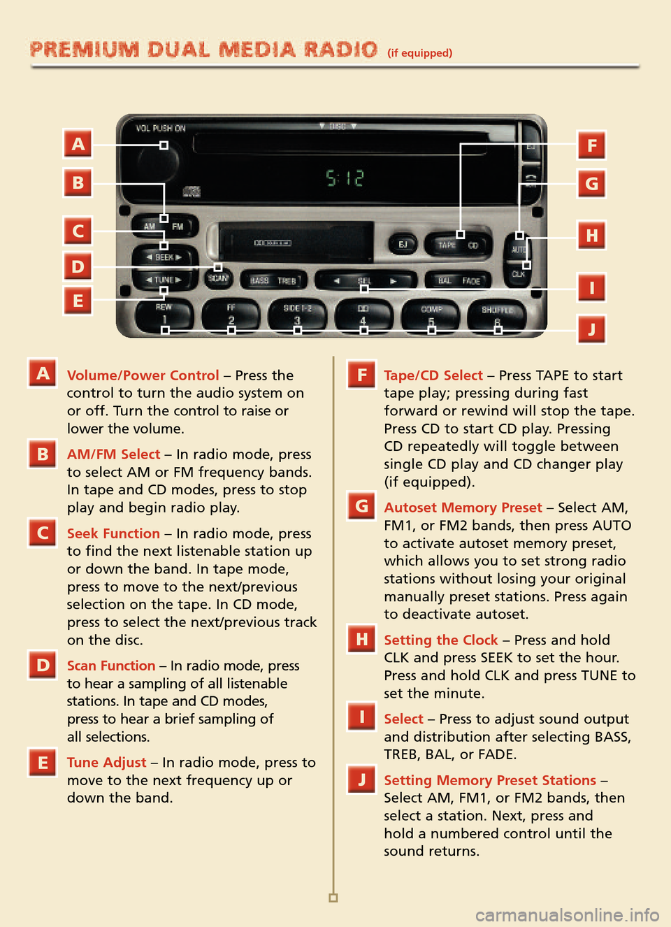 Ford explorer sport trac 2005 1 g quick reference guide for Ford motor company customer relationship center