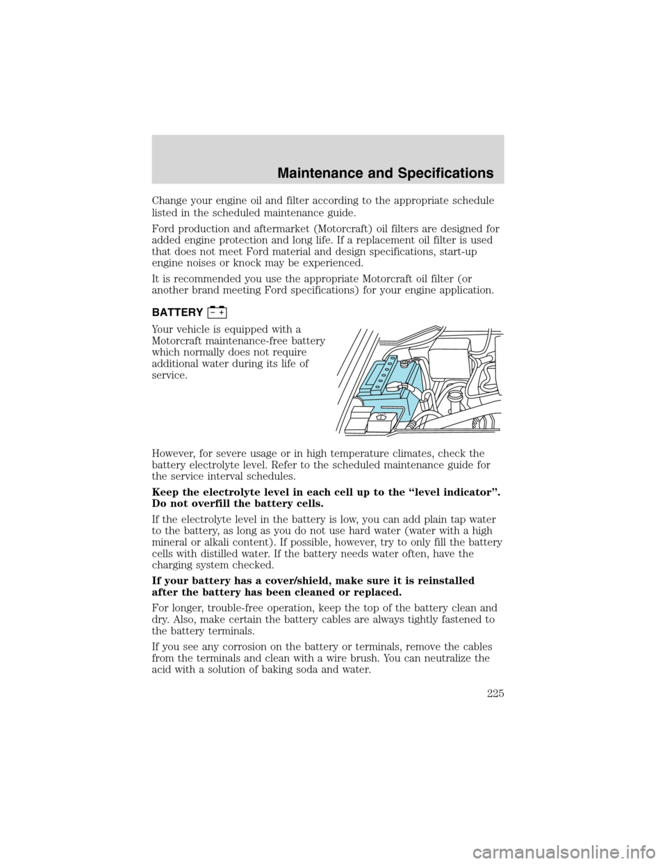 Oil Filter Ford F150 2003 10g Owners Manual F 150 4 6l Engine Diagram Dip Sticks Page 225