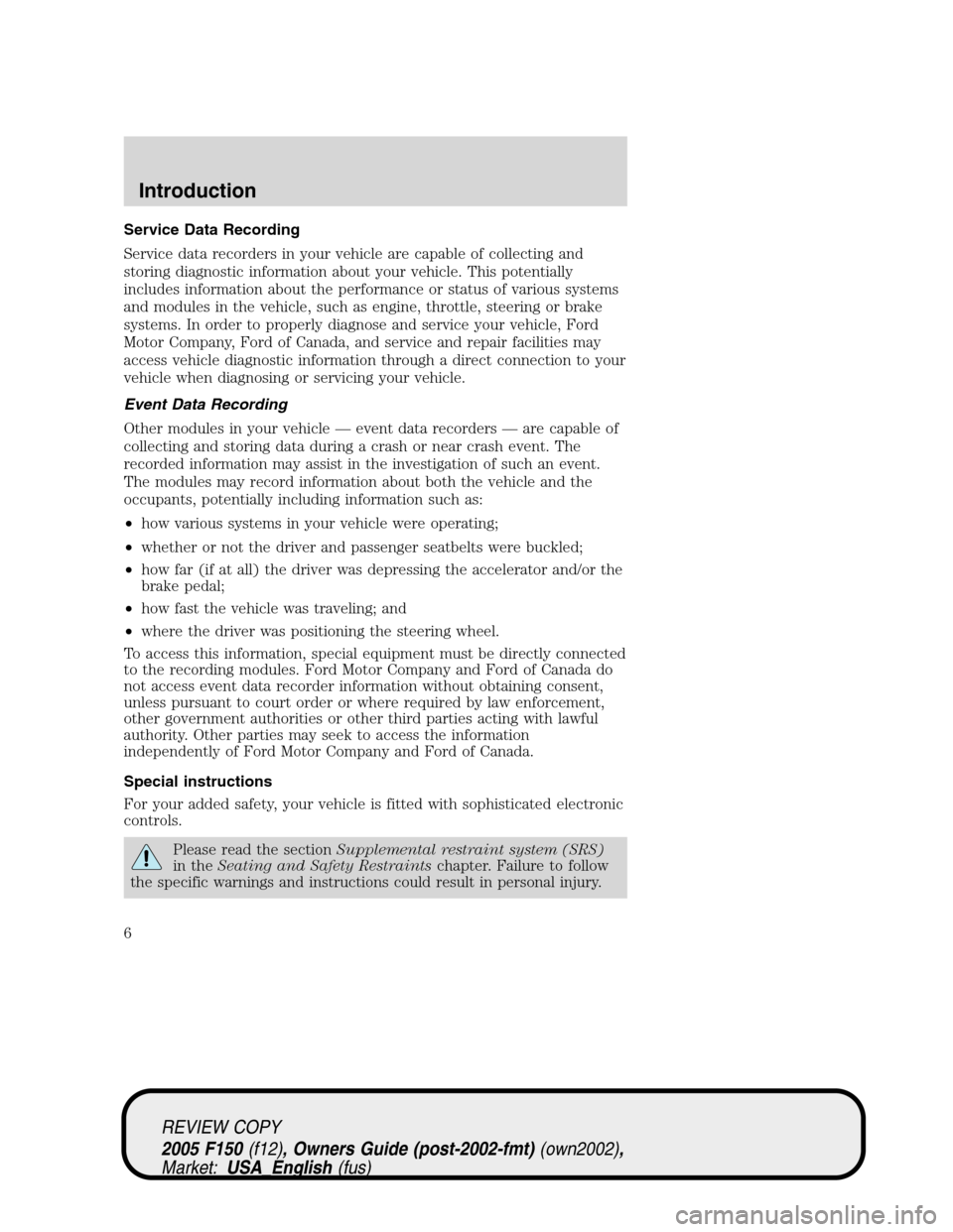 2005 ford f150 owners manual download