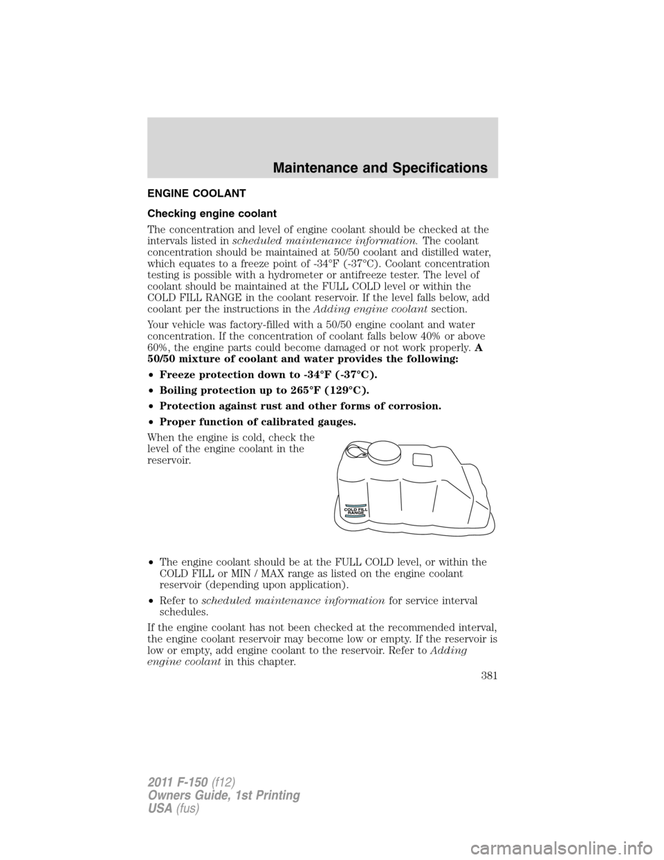 ford 2011 f150 maintenance manuals