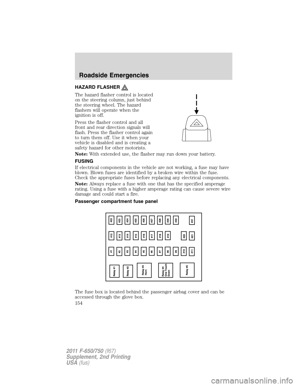 Ford F750 2011 12g Owners Manual Fuse Box Diagram