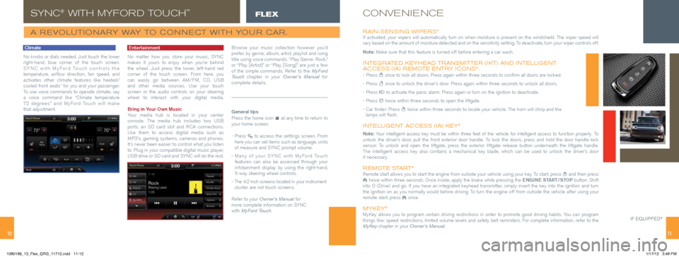 FORD FLEX 2013 1.G Quick Reference Guide, Page 6