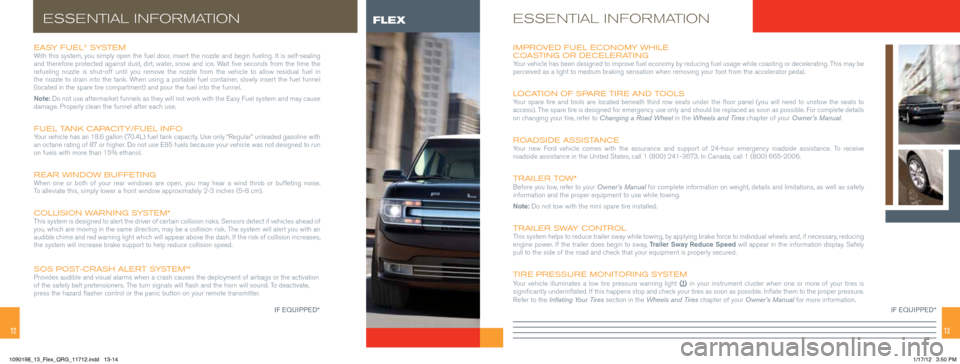 FORD FLEX 2013 1.G Quick Reference Guide, Page 7