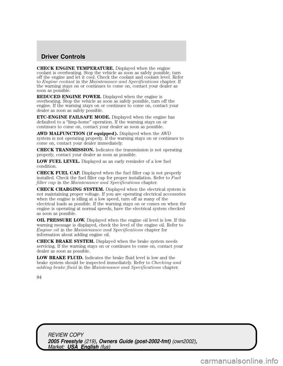 manual ford freestyle 2005 en español