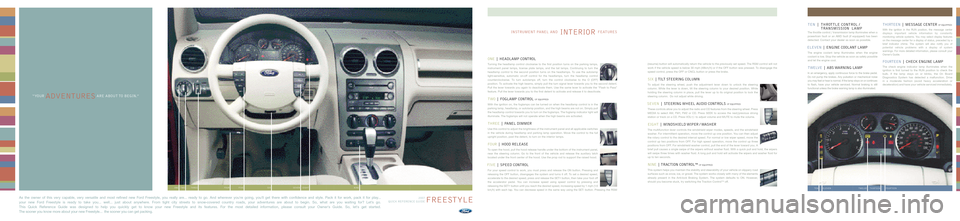 FORD FREESTYLE 2007 1.G Quick Reference Guide, Page 2