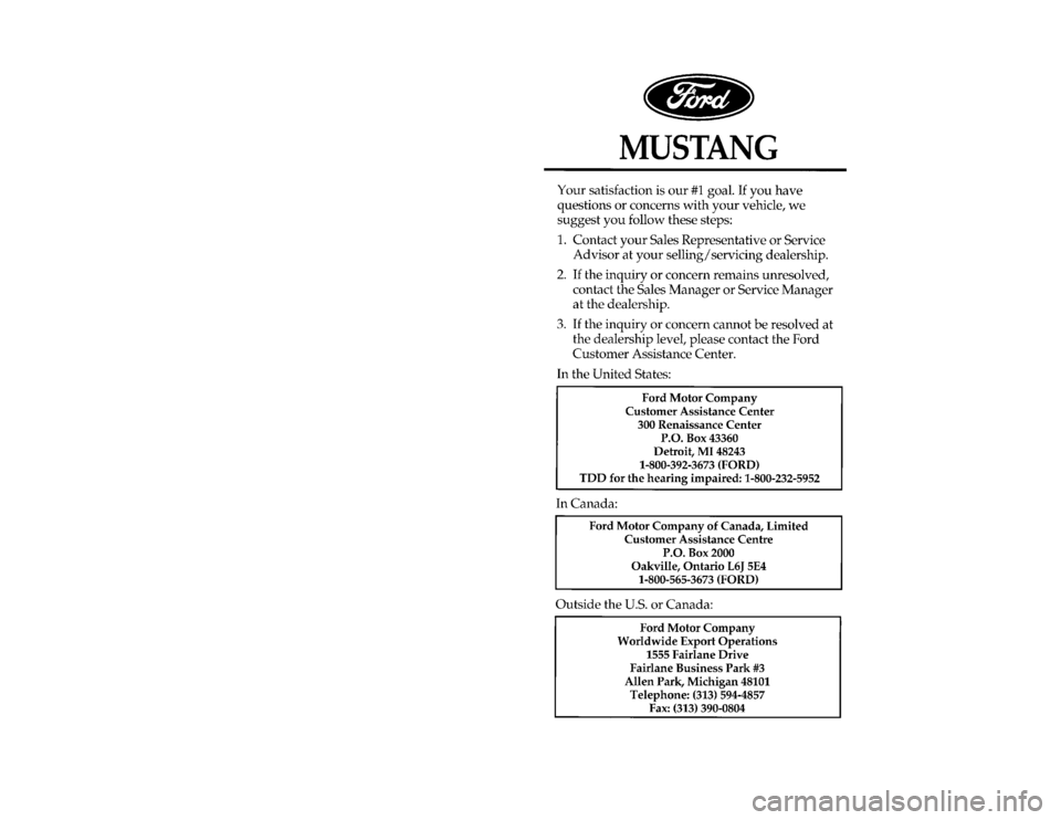 ford mustang 1996 4 g owners manual. Black Bedroom Furniture Sets. Home Design Ideas
