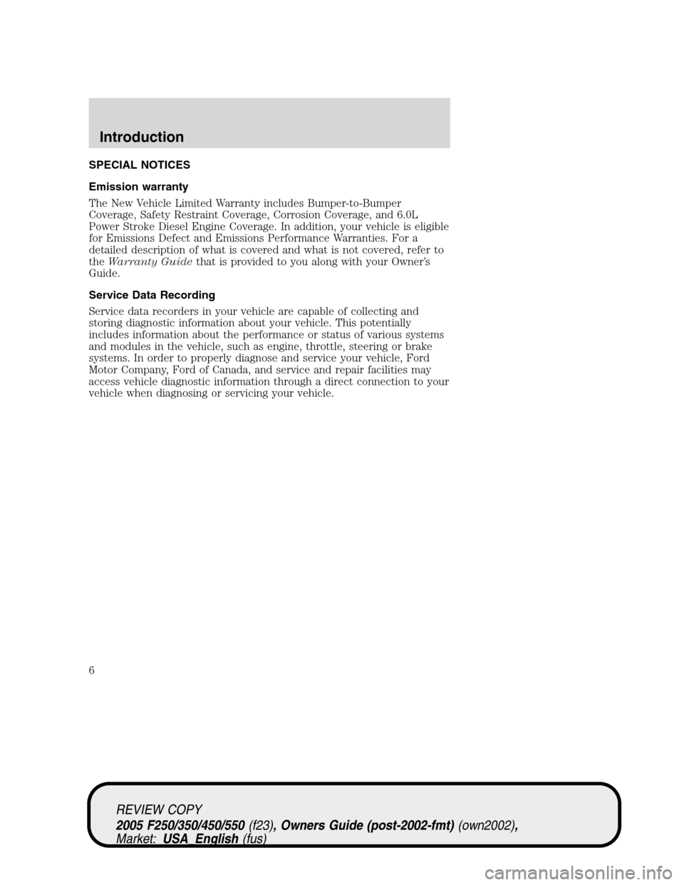 2005 ford f250 diesel owners manual