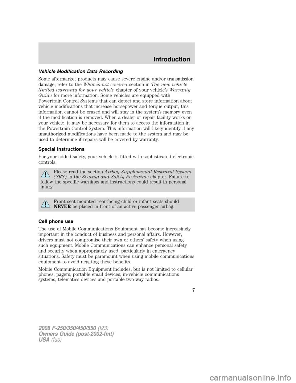 ... Array - ford super duty 2008 2 g owners manual rh carmanualsonline info  ...