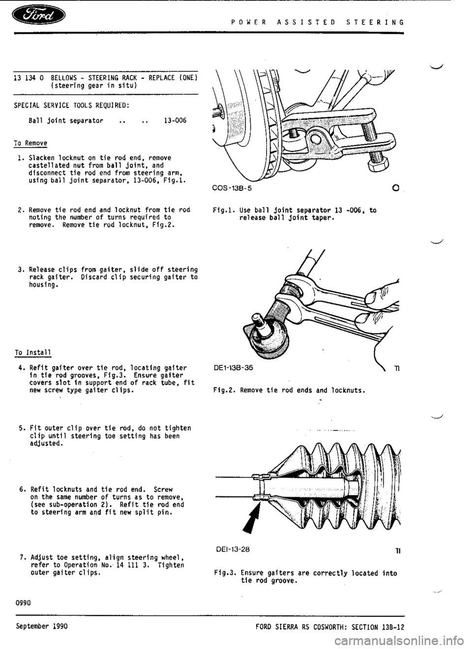 Ford Sierra Rs Cosworth 1987 1g Workshop Manual 2015 F650 Wiring Diagram Pin 87