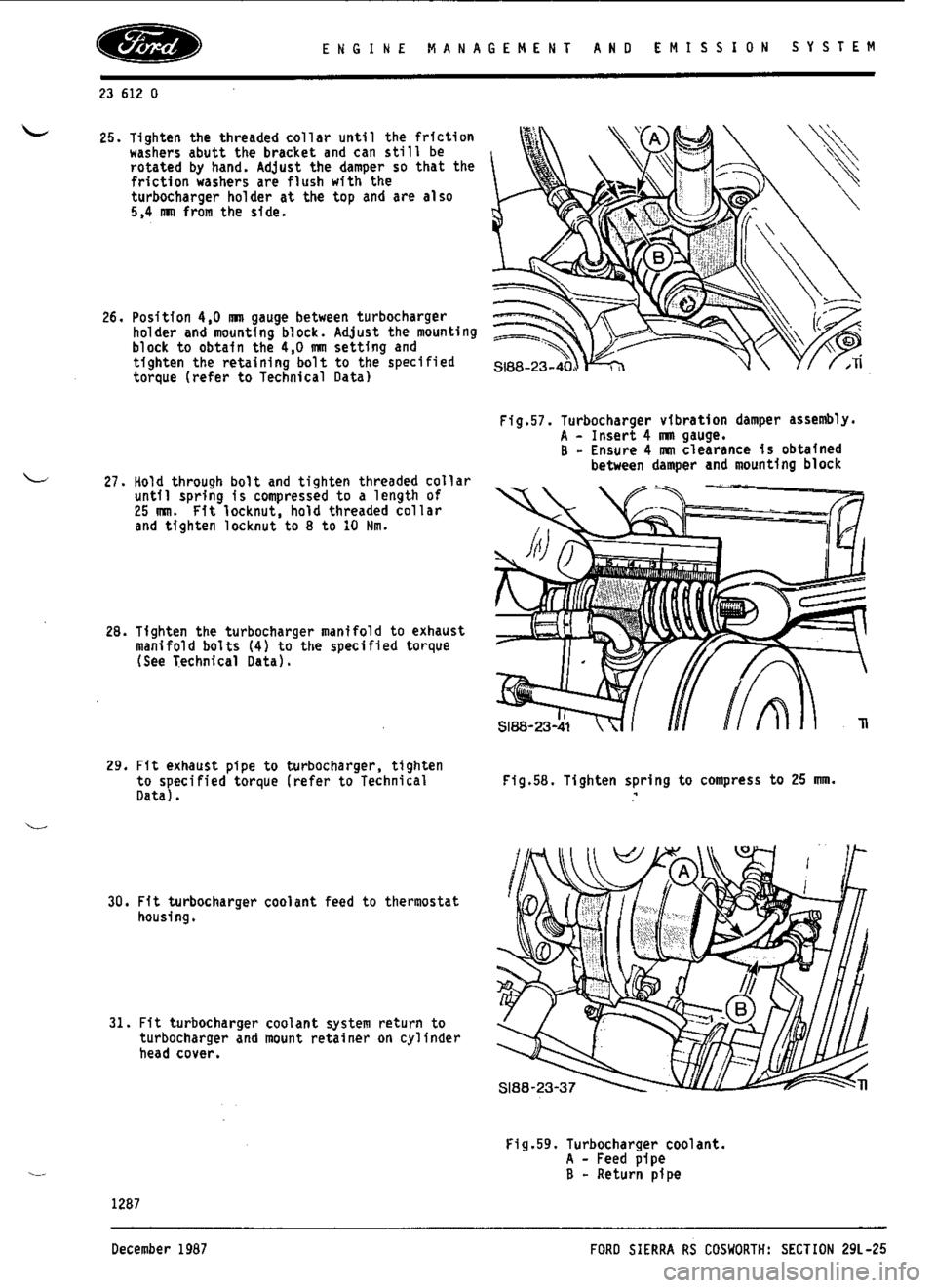 escort cosworth user manual