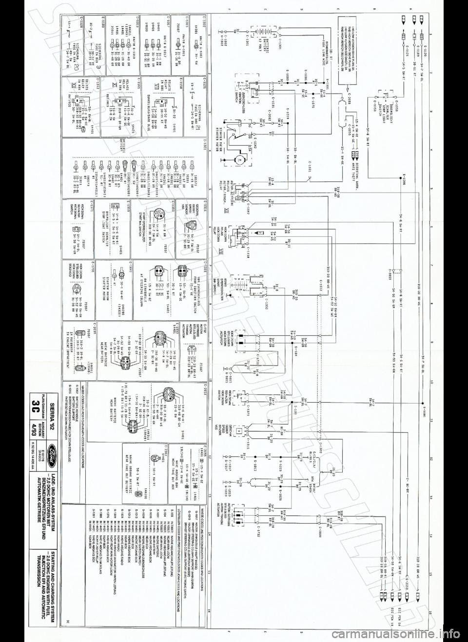 ford sierra 1992 2.g wiring diagrams workshop manual, Wiring diagram