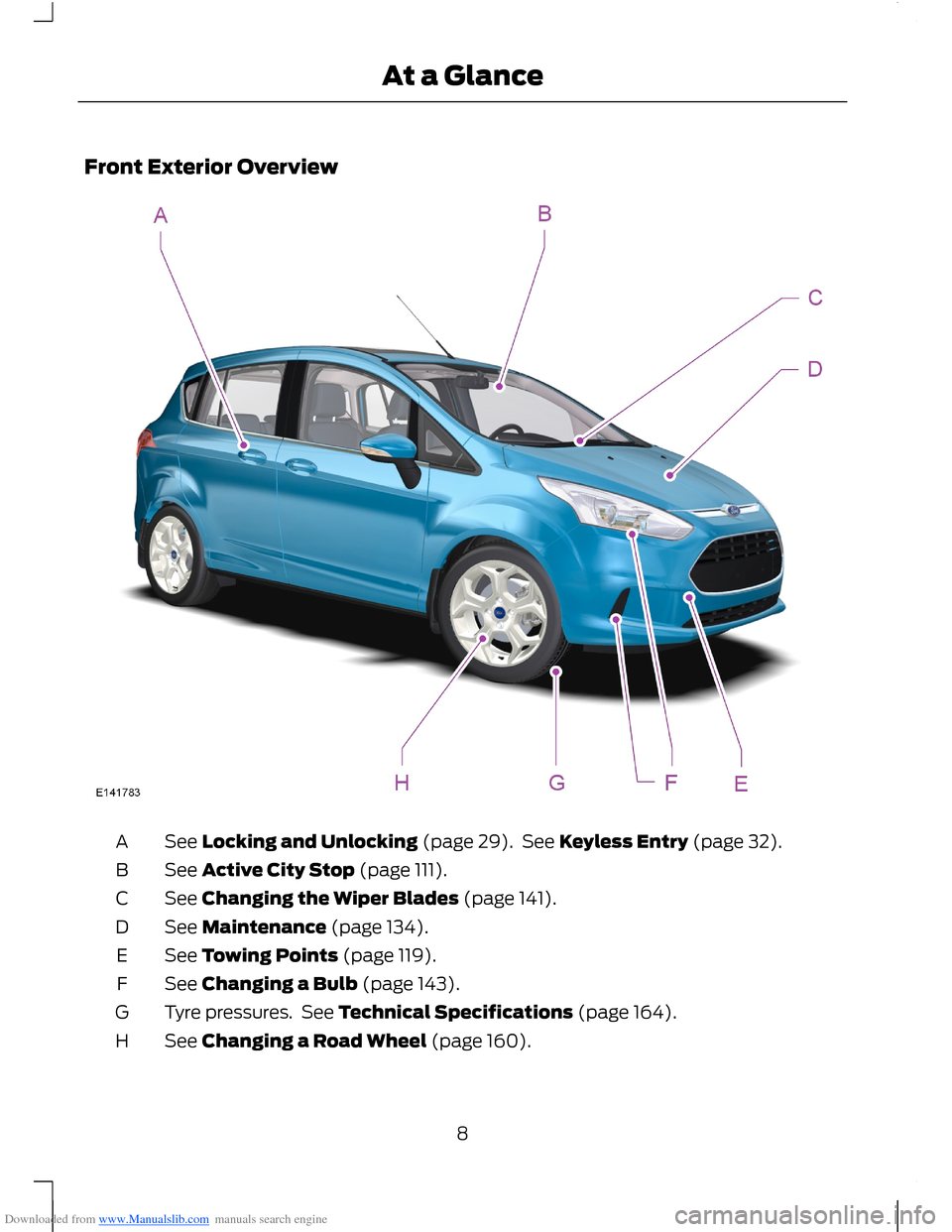 FORD B MAX 2012 1.G Owners Manual, Page 10