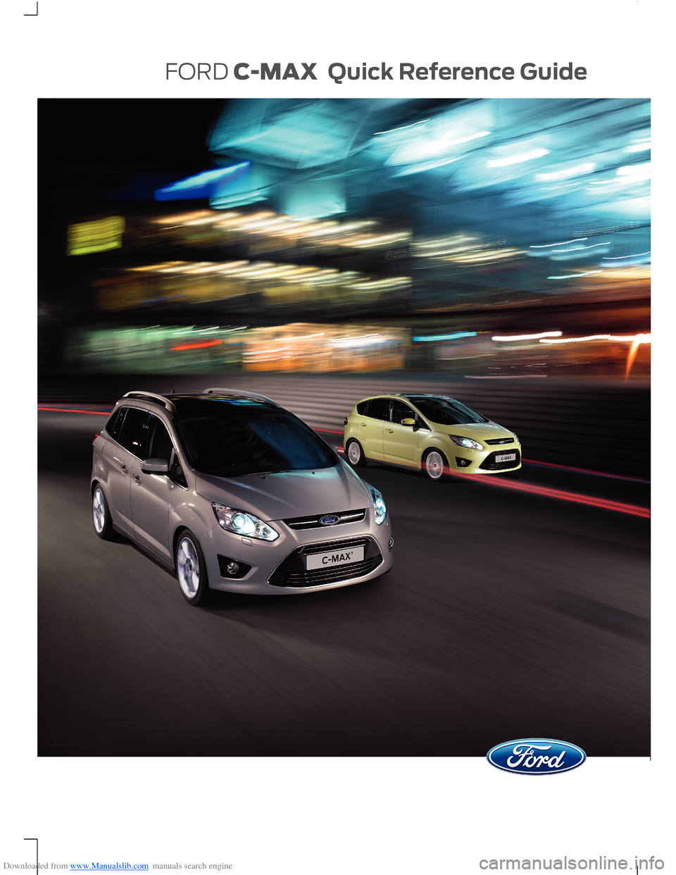 FORD C MAX 2014 2.G Quick Reference Guide, Page 1