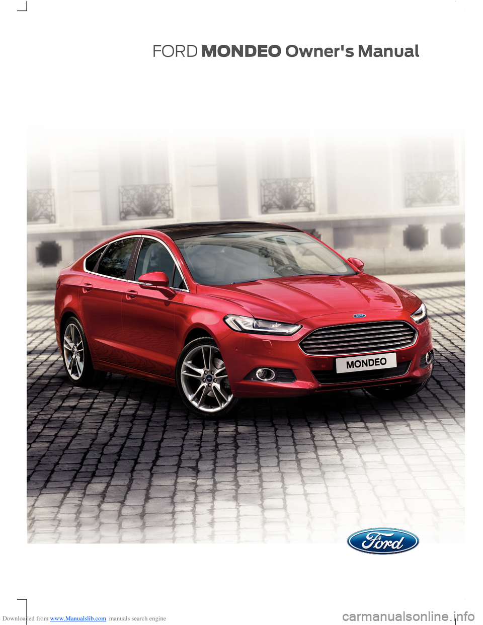 Ford Mondeo 2014 4 G Owners Manual border=