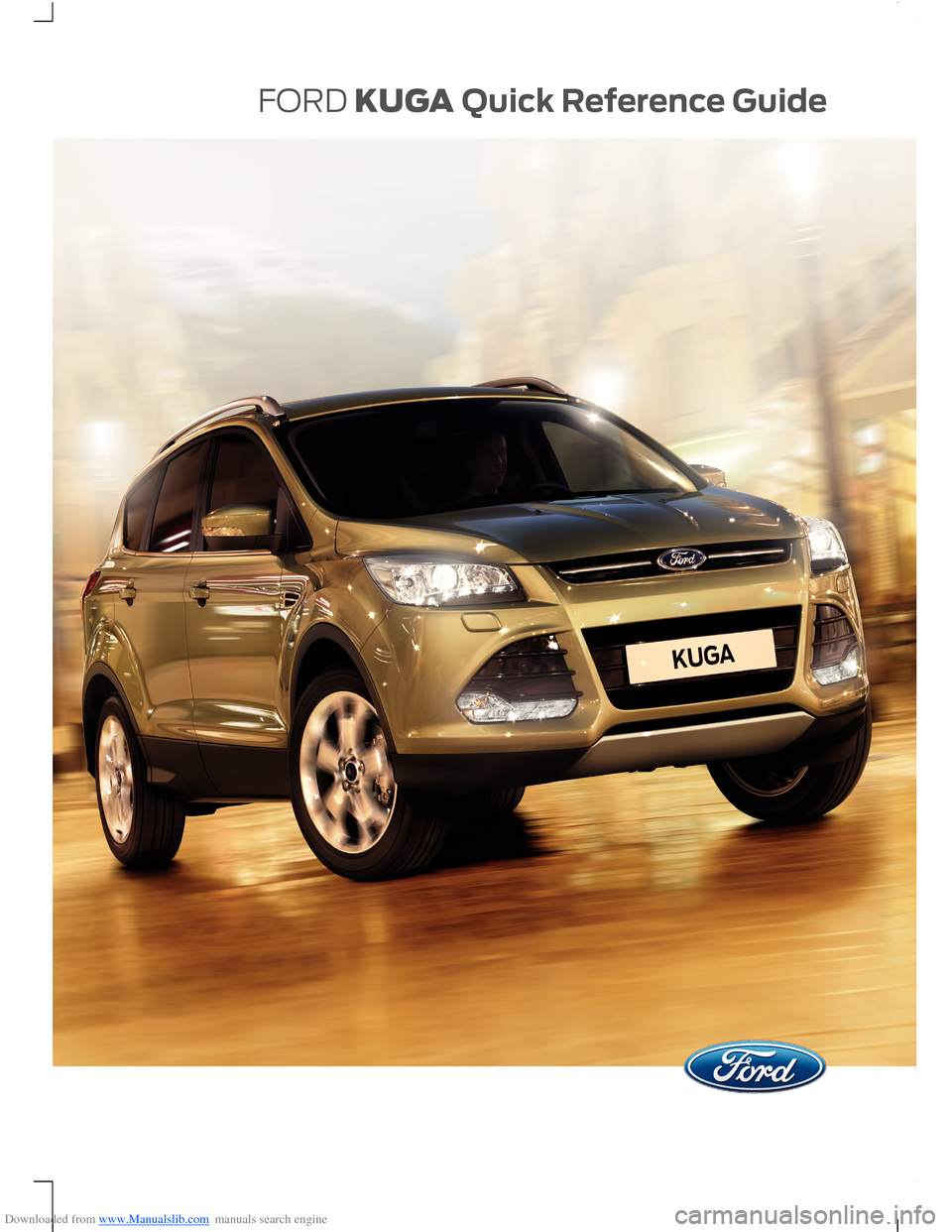 FORD KUGA 2015 2.G Owners Manual, Page 1