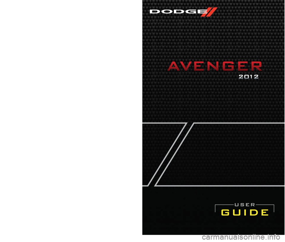 DODGE AVENGER 2012 2.G User Guide, Page 1