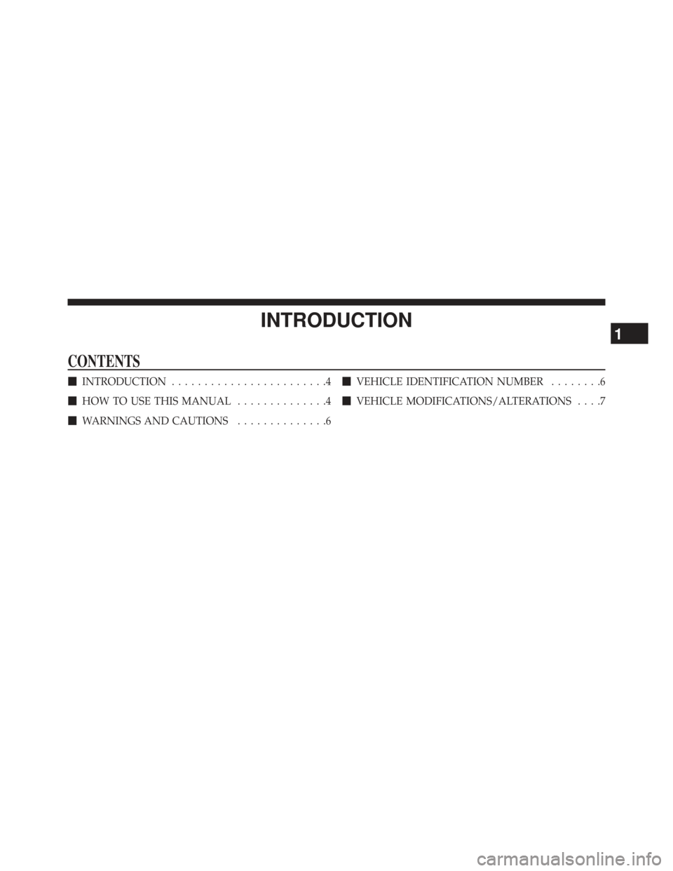 DODGE AVENGER 2014 2.G Owners Manual, Page 5