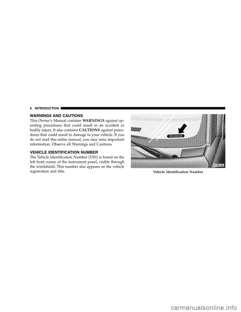 DODGE CALIBER 2008 1.G Owners Manual, Page 8