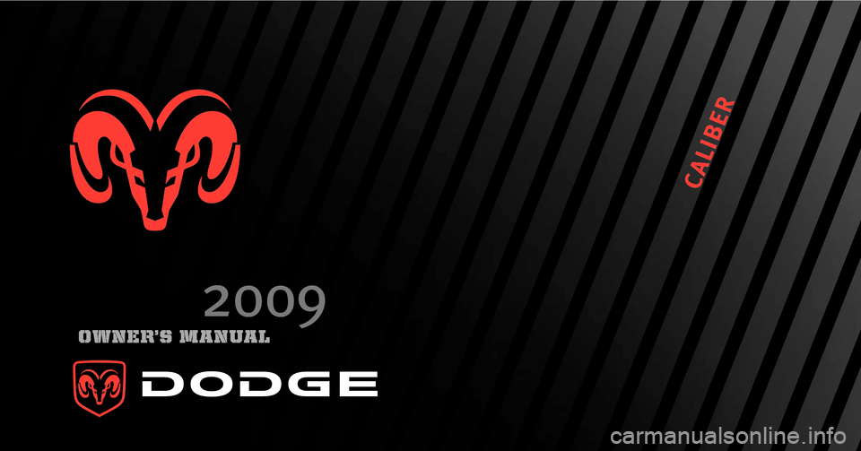 DODGE CALIBER 2009 1.G Owners Manual, Page 1