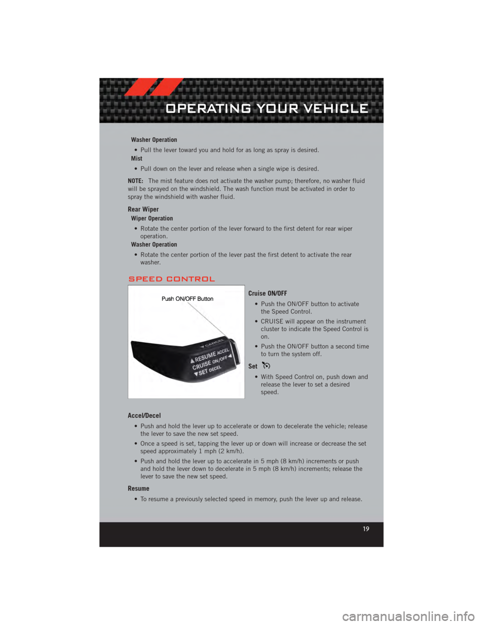 DODGE CALIBER 2012 1.G Owners Manual, Page 21