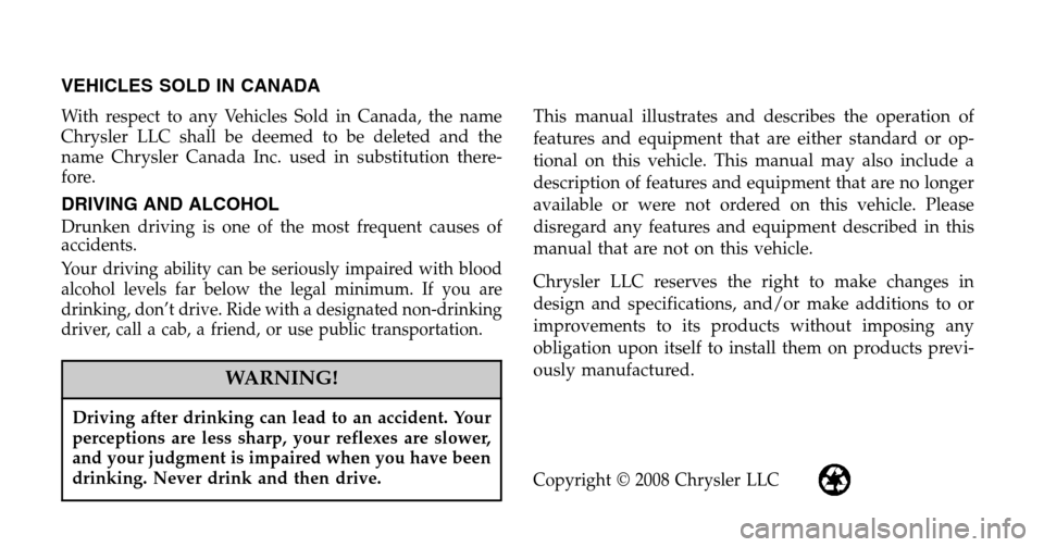 DODGE SPRINTER 2009 2.G Owners Manual, Page 2