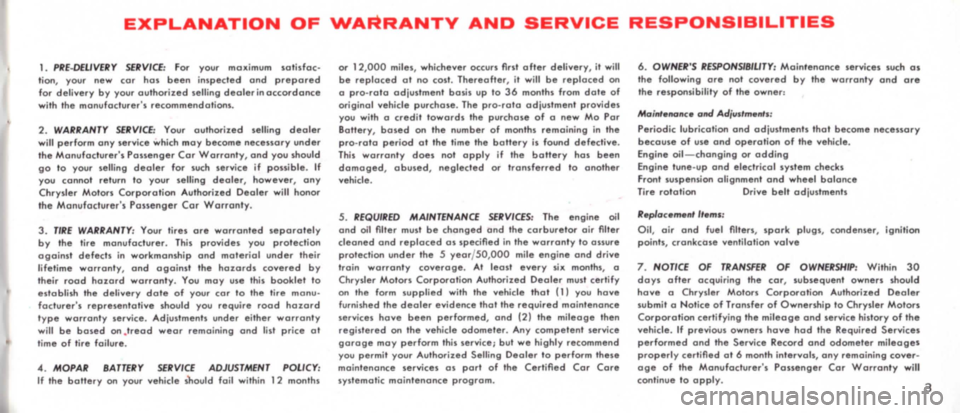 DODGE MONACO 1965 1.G Owners Manual, Page 7