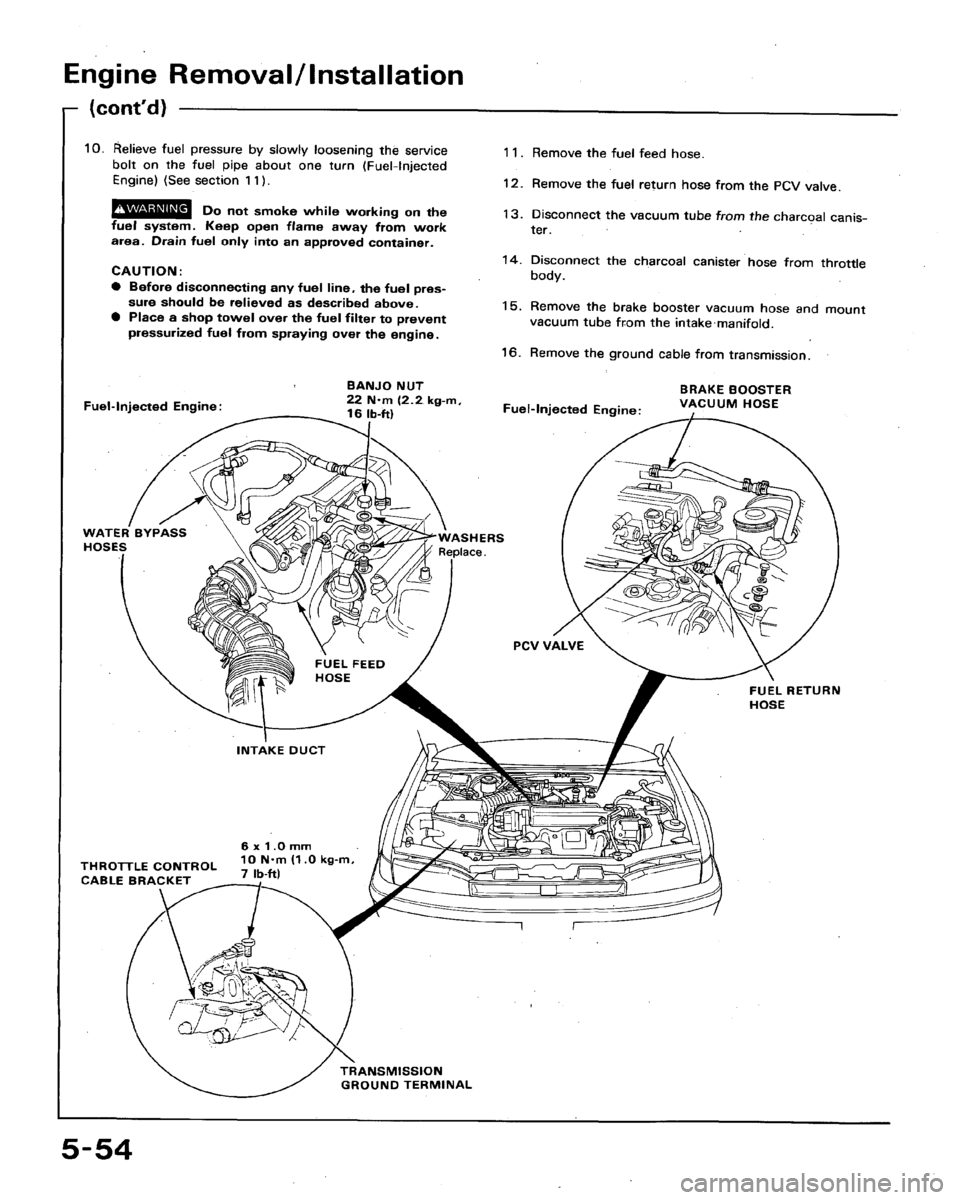 Honda Accord 1993 Cb 4g Workshop Manual Intake Manifold