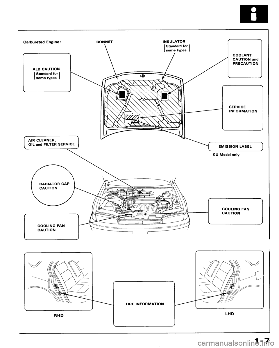 HONDA ACCORD 1992 CB / 4.G Workshop Manual, Page 7