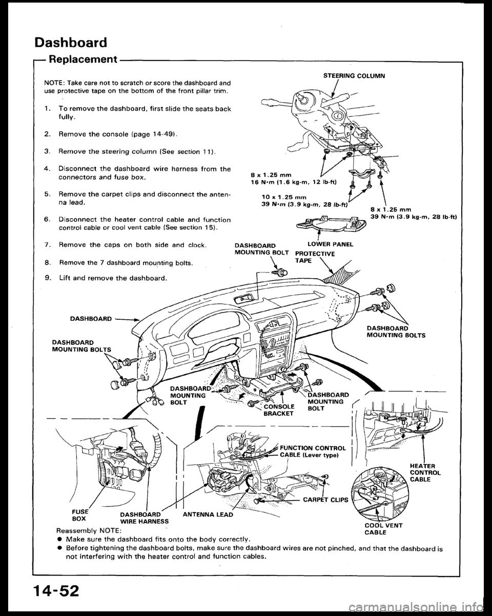 Honda Accord 1994 Cb 4g Workshop Manual Heater Control Wiring Harness For 94
