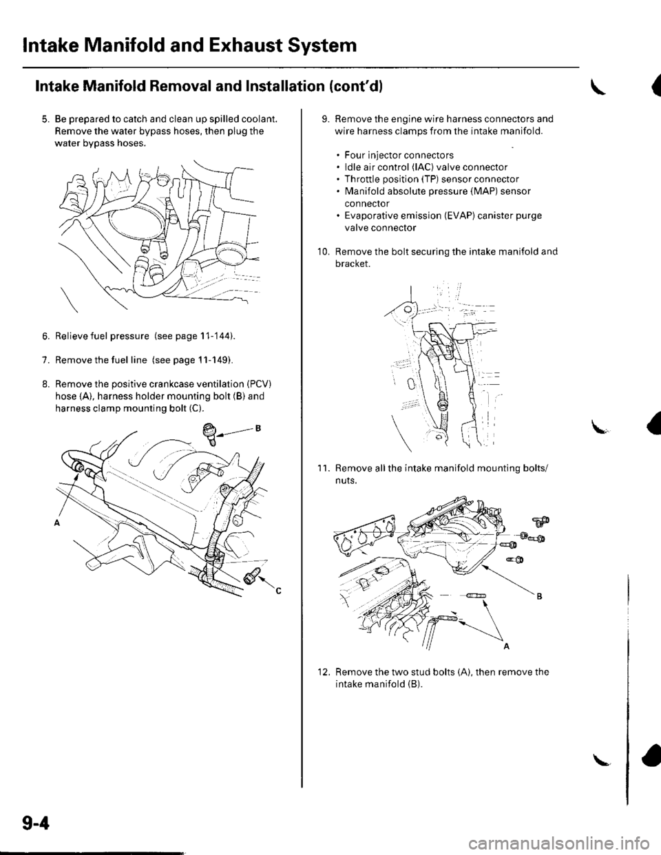Abs Honda Civic 2003 7g Workshop Manual Intake Manifold Wiring Page 186