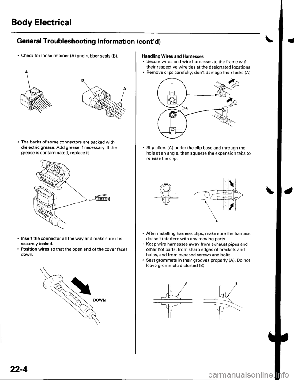Esp Honda Civic 2002 7g Workshop Manual Wiring Harness Clips Removal