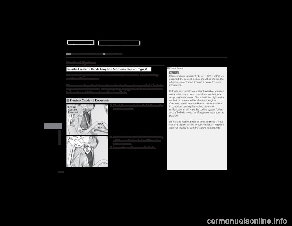 honda accord hybrid 2014 9 g owners manual, page 479